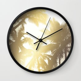Palm tree print Wall Clock