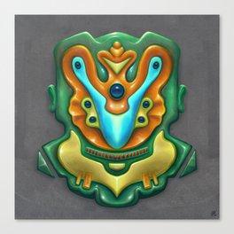 Summer Totem Green Canvas Print