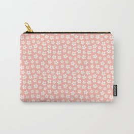 Peachy Daisies Carry-All Pouch