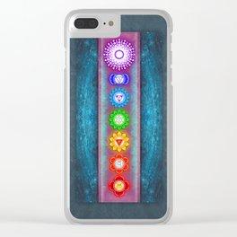 The Seven Chakras VI - Series VI Clear iPhone Case
