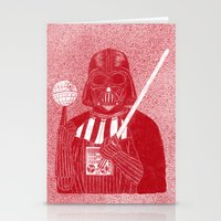 darth Stationery Cards featuring Darth Vader by David Penela