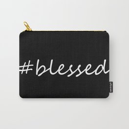 #blessed black and white Carry-All Pouch