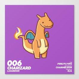 006 Charizard Canvas Print