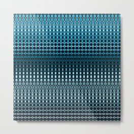 Oscillating Ocean Pattern Metal Print