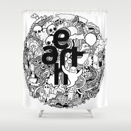 Earth with Art Shower Curtain