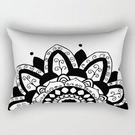 Vine black mandala on white Rectangular Pillow