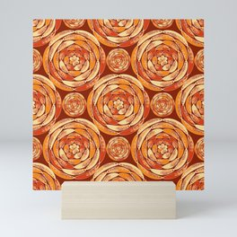 Orange pattern Mini Art Print