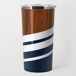 Wooden Navy Travel Mug