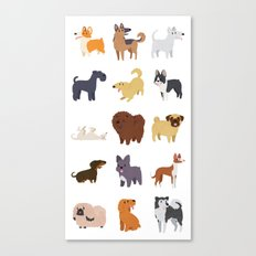 A Variety of Dog Breeds Canvas Print