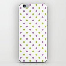 Fun Dots purple green iPhone & iPod Skin