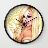 versace Wall Clocks featuring Donatella Versace by Denda Reloaded