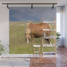 Watercolor Horse 25, Icelandic Pony, Höfn, Iceland, A Quiet Repast Wall Mural