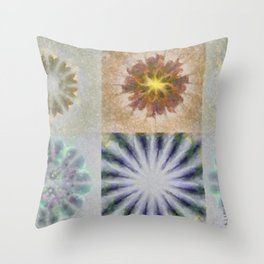 Benching Constitution Flowers  ID:16165-063617-72980 Throw Pillow