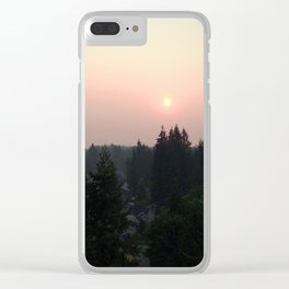 Hazy Northwest Sunrise Clear iPhone Case