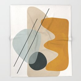 Abstract Shapes No.27 Throw Blanket