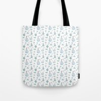 ships Tote Bags featuring ships by Dlinnaya