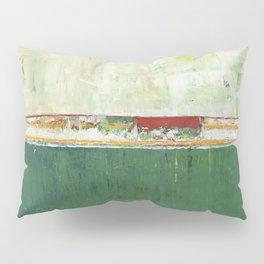 Limerick Irish Ireland Abstract Green Modern Art Landscape Pillow Sham
