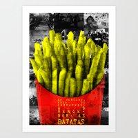Ao vencedor, as batatas Art Print