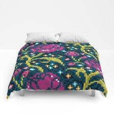 Pixel Flora Comforters