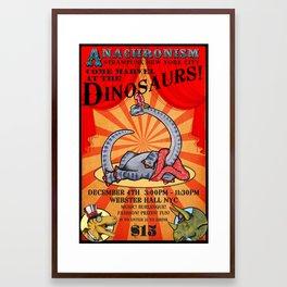 Anachronism Steampunk Dinoasurs Poster Framed Art Print