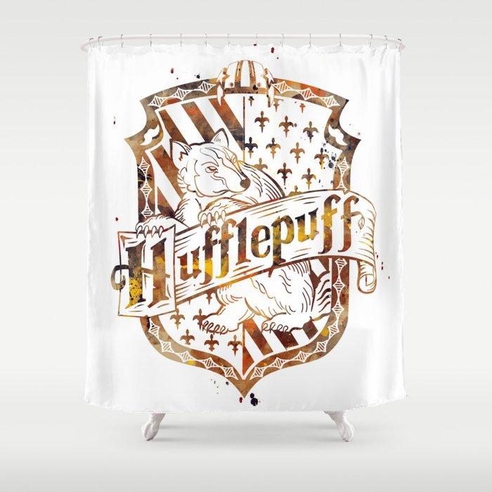 Hufflepuff Crest Shower Curtain