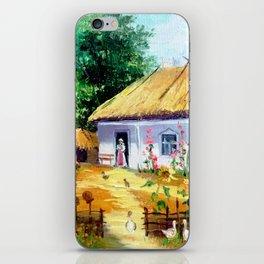 Ukrainian village iPhone Skin