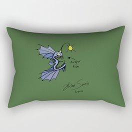 Angler Fish in Color #3 Rectangular Pillow