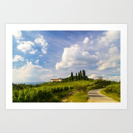 Sunset in the vineyards of Rosazzo Art Print