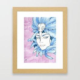 Lady Crow Framed Art Print
