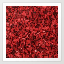 Master builder red Art Print