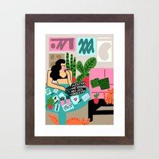 Mientras mas soñamos mas nos conocemos Framed Art Print