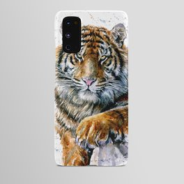Tiger watercolor Android Case