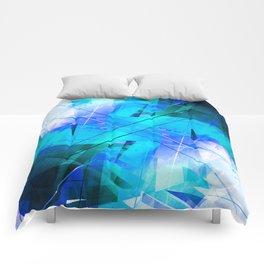 Vaporwave - Geometric Abstract Art Comforters