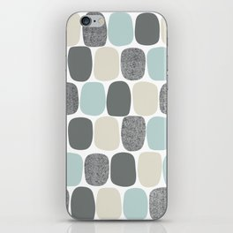 Wonky Ovals in Teal iPhone Skin