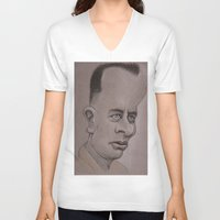 forrest V-neck T-shirts featuring Forrest by chadizms