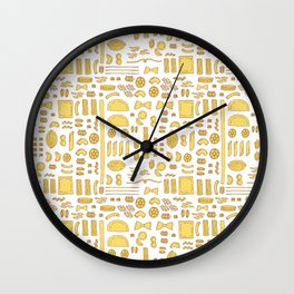 Pasta, a pattern. Wall Clock