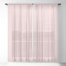 Pretty Pale Pink - Solid Color Trend - Mid-Century Modern Sheer Curtain