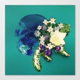 Garden Circle - Jade Canvas Print