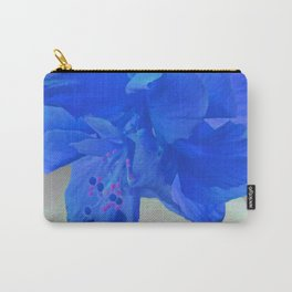 A Double Blue Hibiscus Carry-All Pouch