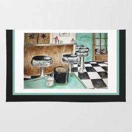 Turquoise Diner Rug