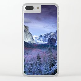 Yosemite in Winter Clear iPhone Case