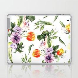 Watercolor spring floral pattern Laptop & iPad Skin