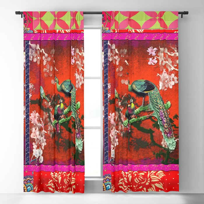 An afternoon in the oriental gardem Blackout Curtain