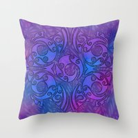 maori Throw Pillows featuring Maori/Polynesian Style by Lonica Photography & Poly Designs