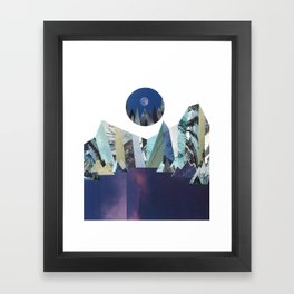 Lunar Lake Framed Art Print