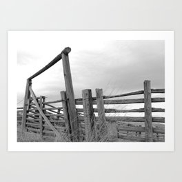 The Old Corral Art Print