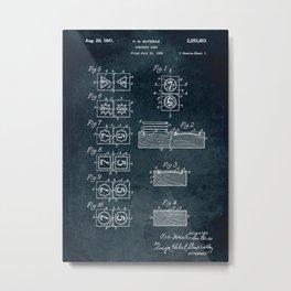 1939 - Dominoes game patent art Metal Print