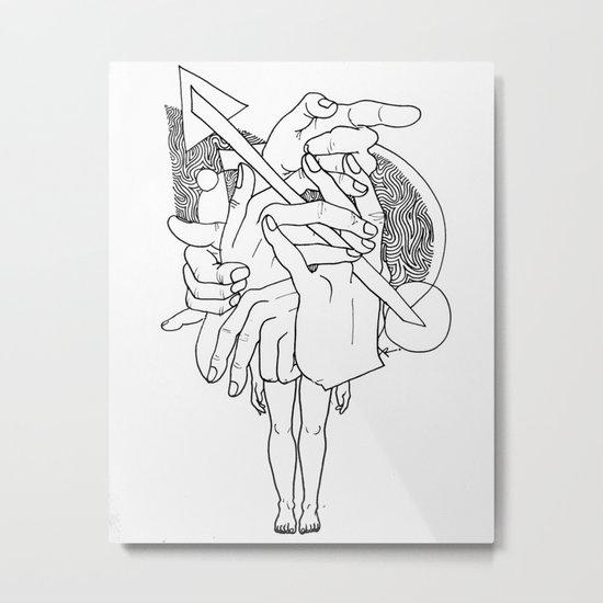 Hands - Free Metal Print