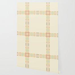 Fine Line Colorful Retro Cross Wallpaper