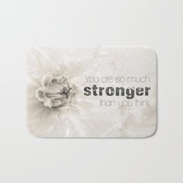 Spring Dahlia II - Be Strong Bath Mat